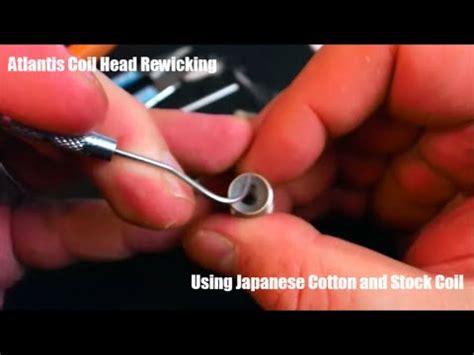 tutorial recoil vape tutorial aspire atlantis coil head rewick rebuild using