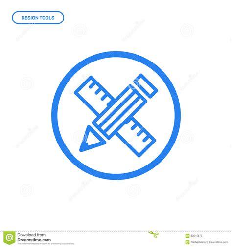 icon design concept vector illustration of flat line pen tool icon graphic