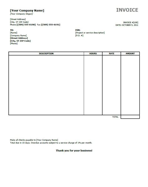 invoices templates free one must on business invoice templates