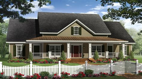 small one house plans with porches ranch house plans with porches country ranch house plans