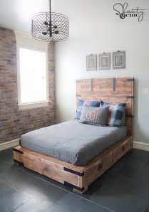 Platform Bed Dimensions Diy Diy Or Size Storage Bed Shanty 2 Chic