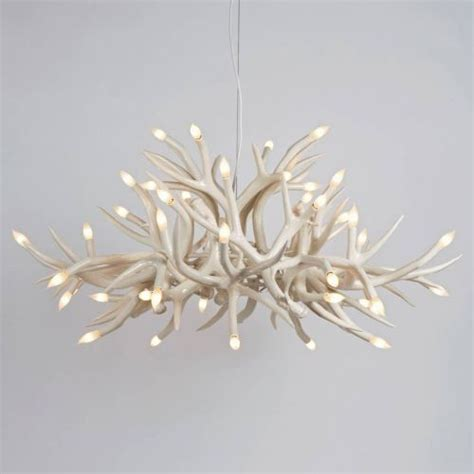 Chandelier Contemporary Superordinate Antler Chandelier 24 Antlers Contemporary Chandeliers By Lumens