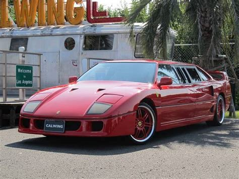 limousine ferrari ferrari f40 limousine for sale again in japan gtspirit