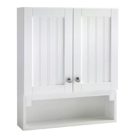 lowes over the toilet white cabinet style selections ellenbee 28 in h x 23 1 4 in w x 6 1 2 in
