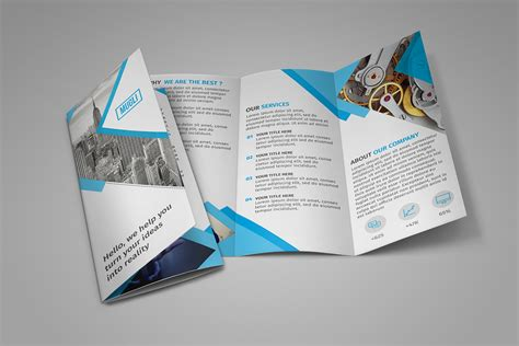 brochure photoshop templates 20 tri fold brochure design ideas webdesignerdrops