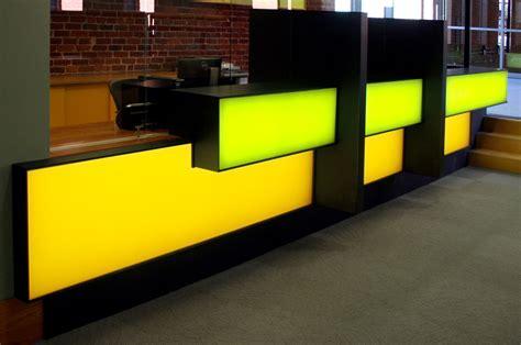 Illuminated Reception Desk Illuminated Reception Desk Custom Effects Led Solutions Surrey Bc Canada Glacier Corian 174