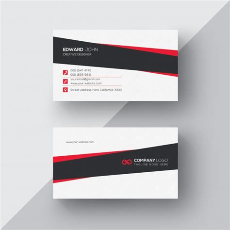 business card template wavy white business card with black and details psd file