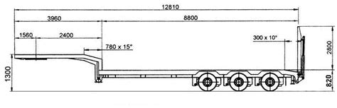 floor length of typical 3 trailer tractor trailer dimensions size pictures to pin on