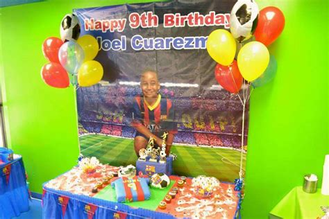 Carnival Theme Decorations Fc Barcelona Soccer Birthday Party Ideas Photo 9 Of 20