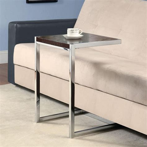 sofa snack table accent living room snack sofa side end stand table glass