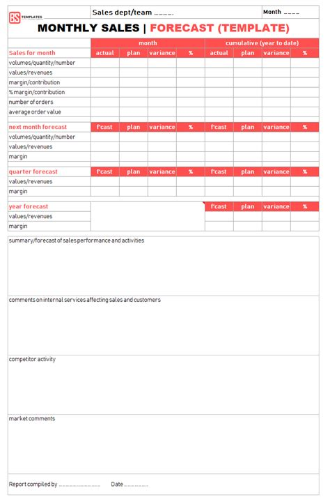 Sales Report Templates 10 Monthly And Weekly Sales Report Templates In Excel Formats Monthly Sales Report Template Excel