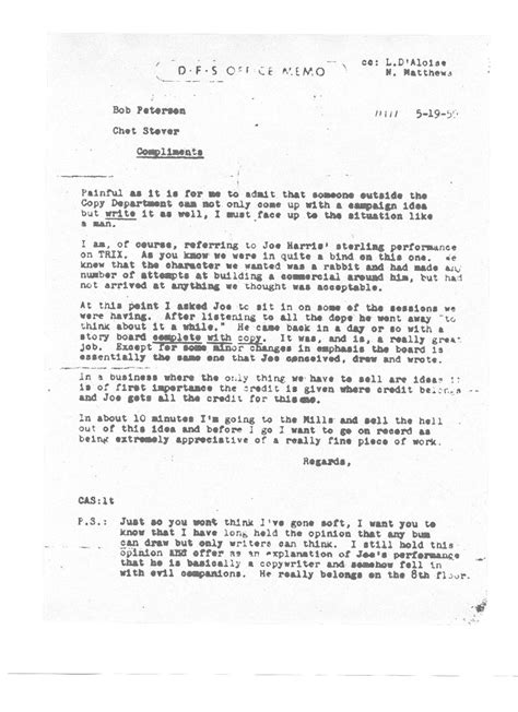 Character Letter For Pardon The Origin Of The Trix Rabbit