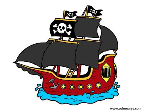 barco pirata dibujo piratas para ni 241 os imagui