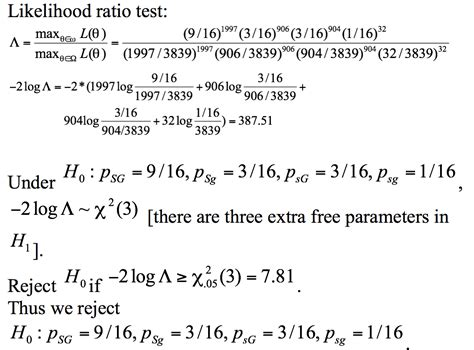 likelihood ratio test trial for likelihood ratio test for multinomial