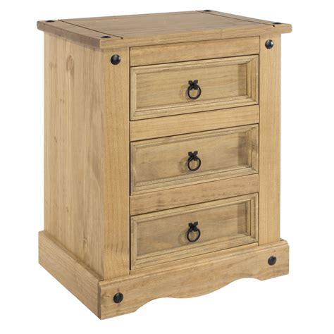 Pine Bedside Tables Abdabs Furniture Corona Pine 3 Drawer Bedside Table
