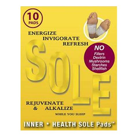 Sole Pads Detox by Inner Health Sole Pads 10 Detox Foot Pads