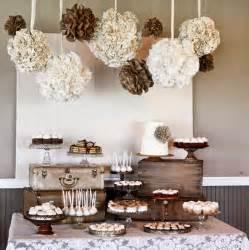 Party ideas burlap and lace wedding dessert table kara s party ideas