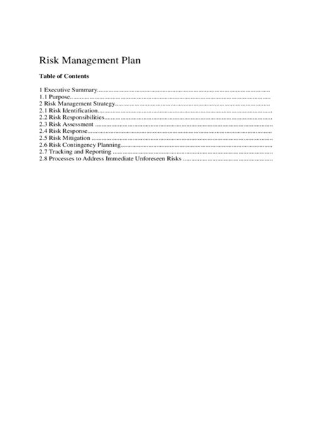 church risk management plan template image collections