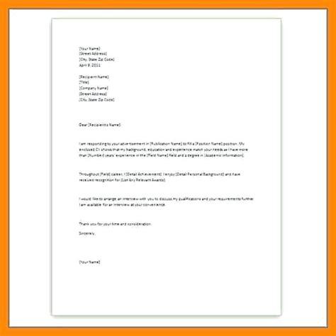 Simple Resume Cover Letter Template by Simple Cover Letters Free Resume Letter Template Word And