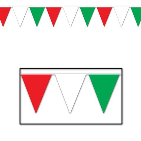 printable italian flag bunting red white green italian italy 3 7m party flag pennant