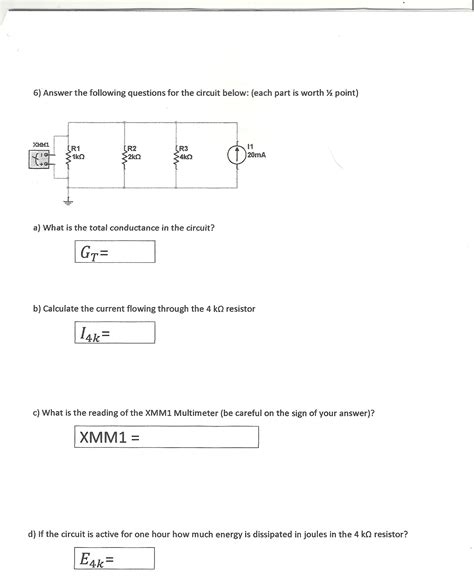 what is the conductance of a 2 ohm resistor what is the total conductance in the circuit calc chegg