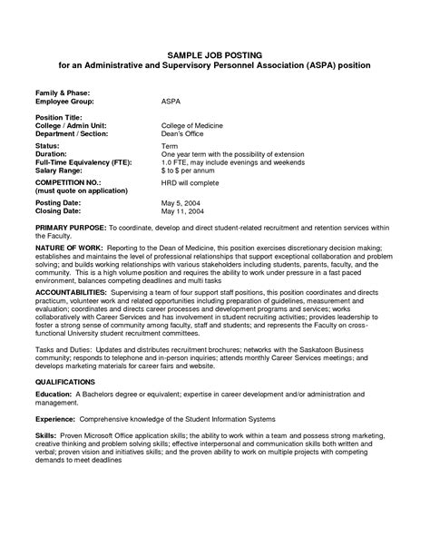 posting cover letter best photos of template of posting sle