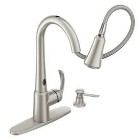 shop moen arbor with motionsense spot resist stainless 1 shop moen delaney with motionsense spot resist stainless 1