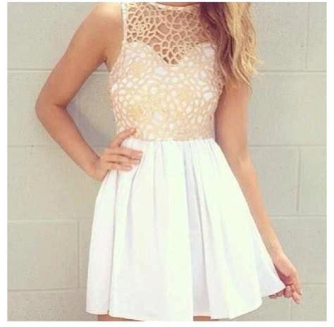 24325 Brown Back Lace Summer Dress dress white dress crochet dress bag lace lace