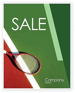 tennis templates free tennis rackets sale poster template in microsoft word
