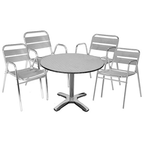 Large Bistro Table And Chairs Stainless Steel Bistro Table And Aluminium Chairs Barmans Co Uk