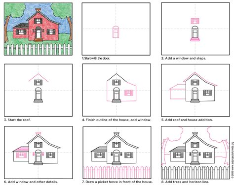drawing a house draw a country house art projects for kids