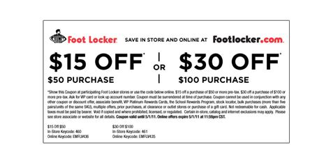 Where Can I Use A Footlocker Gift Card - chs in store coupon 2017 2018 best cars reviews