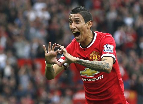 angel  maria delighted  manchester united start