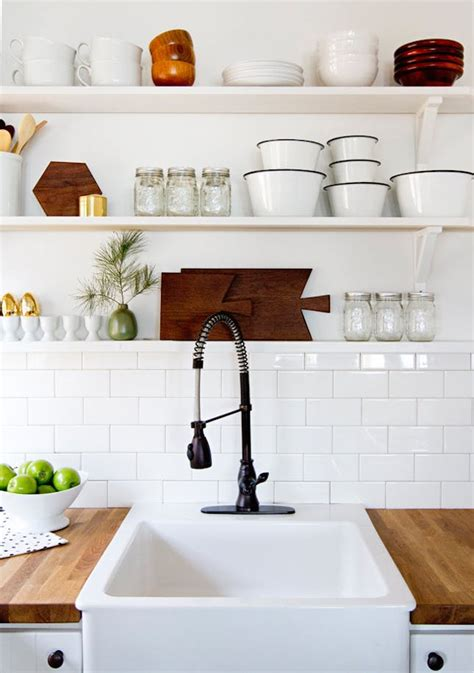 small kitchen open shelving 22 ideas for styling open kitchen shelves brit co