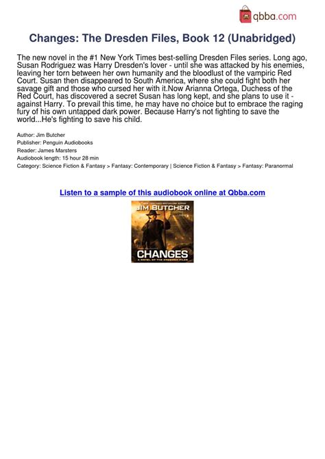 Changes Dresden Files changes the dresden files book 12 unabridged audiobook at