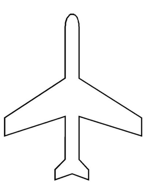 airplane template preschool airplane pattern coloring page air transportation