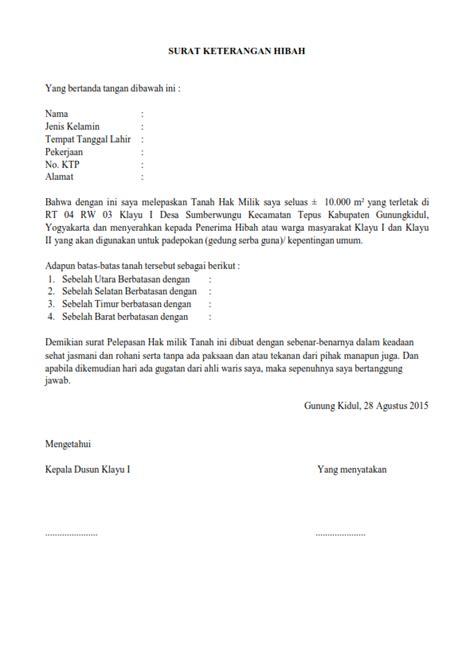 contoh surat hibah barang 2017 kumpulan contoh surat lengkap