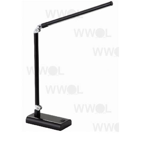 lux led desk l lux reach 4 watt led desk lamp black