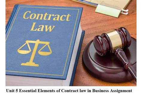Unit 5 Essential Elements Contract Law Business Assignment
