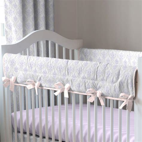 Gray Damask Crib Bedding Lilac And Silver Gray Damask Crib Bedding Baby Crib Bedding Carousel Designs