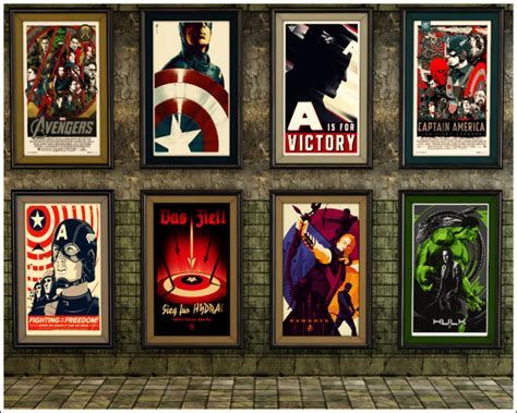 decorating your room with framed posters