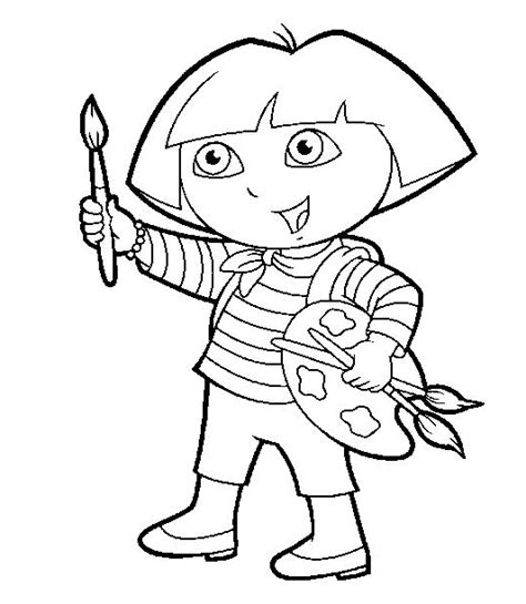 Dora Coloring Pages Coloring Pages To Print Paint Coloring Pages