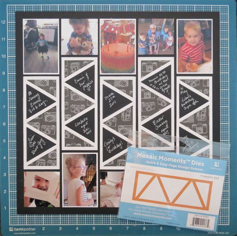 celebrate  year  triangles   scrapbook pages
