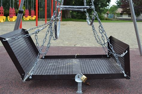 handicap swing city of parksville wheelchair accessible swing