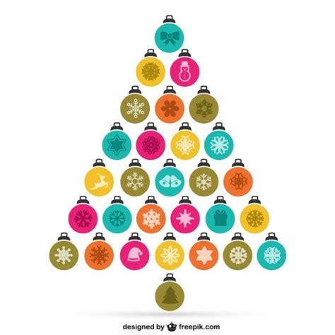 193 rbol de navidad hecho con bolas descargar vectores gratis