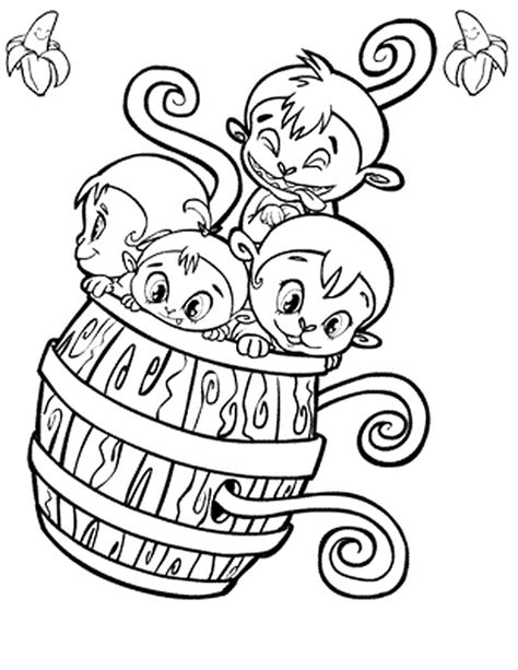 Free Coloring Pages Of Monkey Barrel Baby Monkey Coloring Page