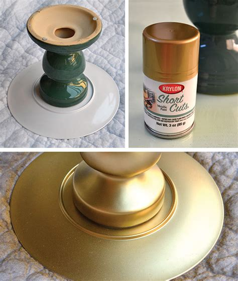 a diy cake stand that looks expensive but really cost 7