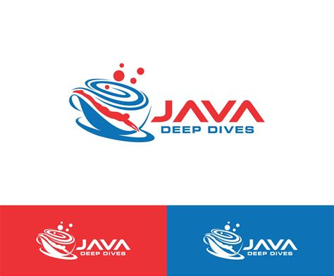 how to design a logo in java serious modern logo design for java deep dives by zanto