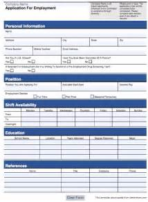 Employment Application Template Pdf by Customizable Employee Application Form Pdf And Word