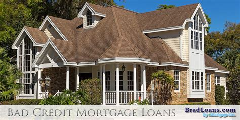 bad credit mortgage loans no payment